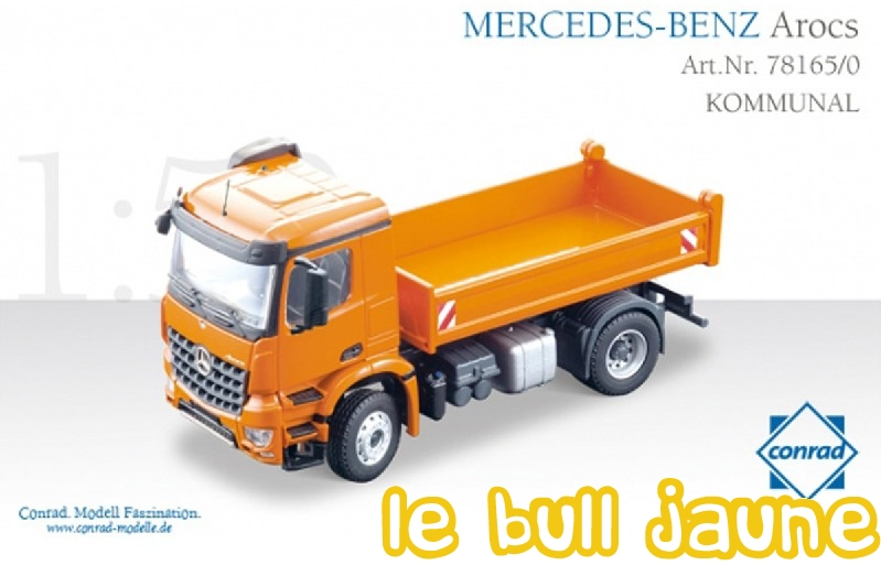 conrad 78165 0 mercedes benz arocs 4 4 camion benne 4 roues motrices. Black Bedroom Furniture Sets. Home Design Ideas