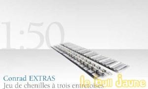 Chenilles13 mm 3 entretoises