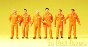 Lot de 6 figurines orange