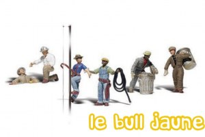 LOT DE FIGURINES TRAVAIL DE VILLE