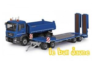 MAN TGS + remorque bleu