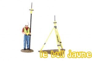 Figurine avec base gps et rover