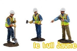 Figurines ouvriers de chantier
