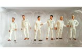 Lot de 6 figurines - blanc