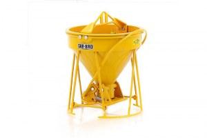 GAR-BRO benne béton jaune
